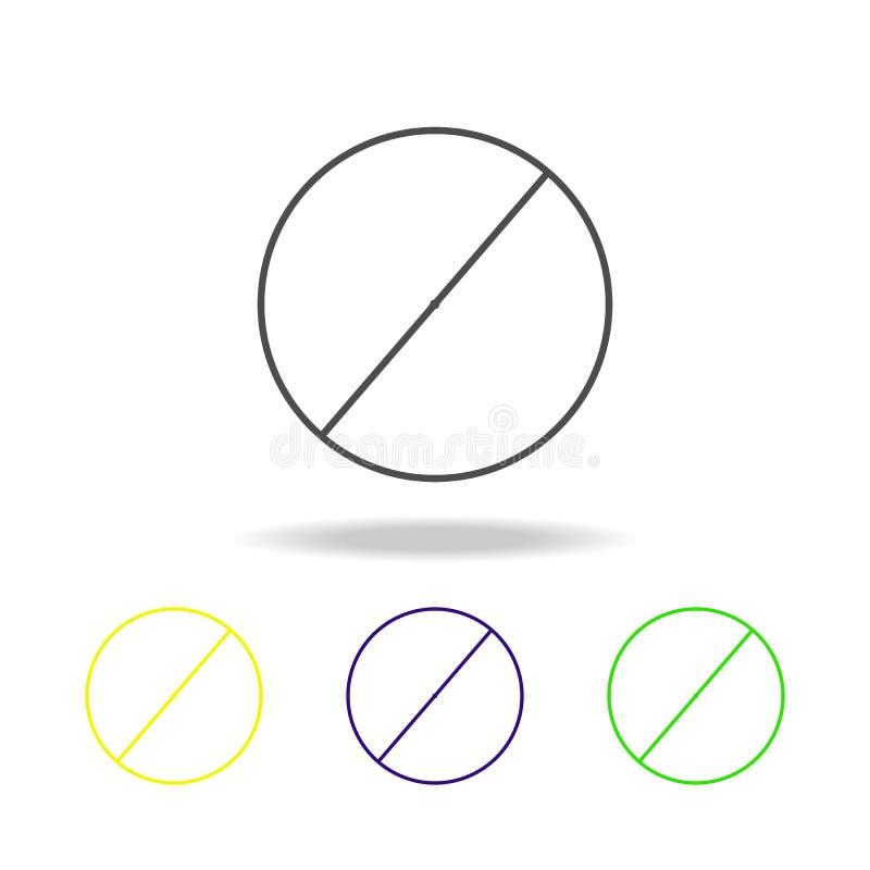 diameter av en kulör symbol för cirkel Kan användas för rengöringsduken, logoen, den mobila appen, UI, UX vektor illustrationer