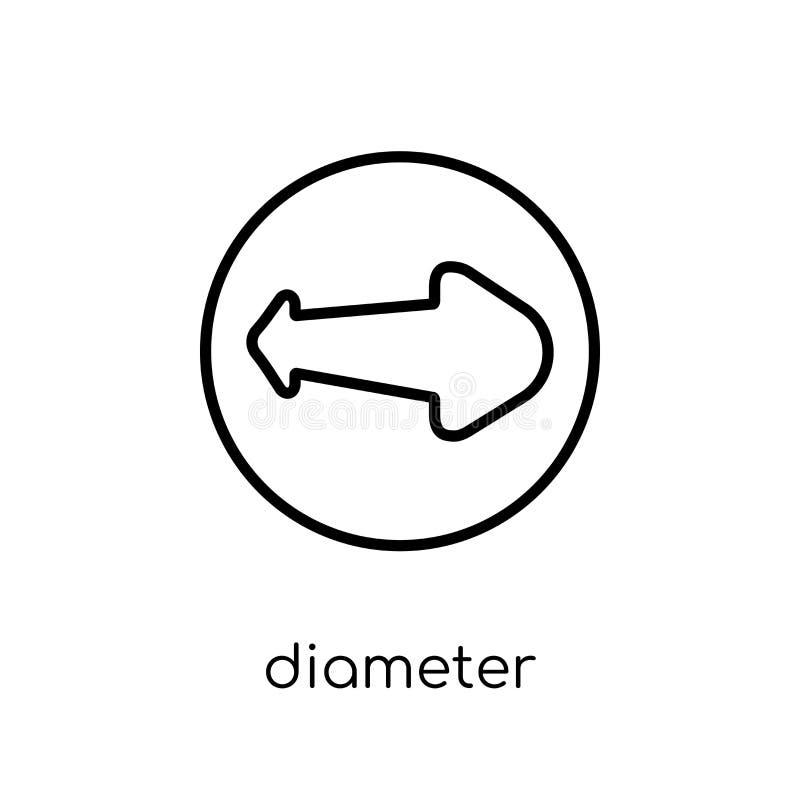 Diametersymbol från geometrisamling stock illustrationer