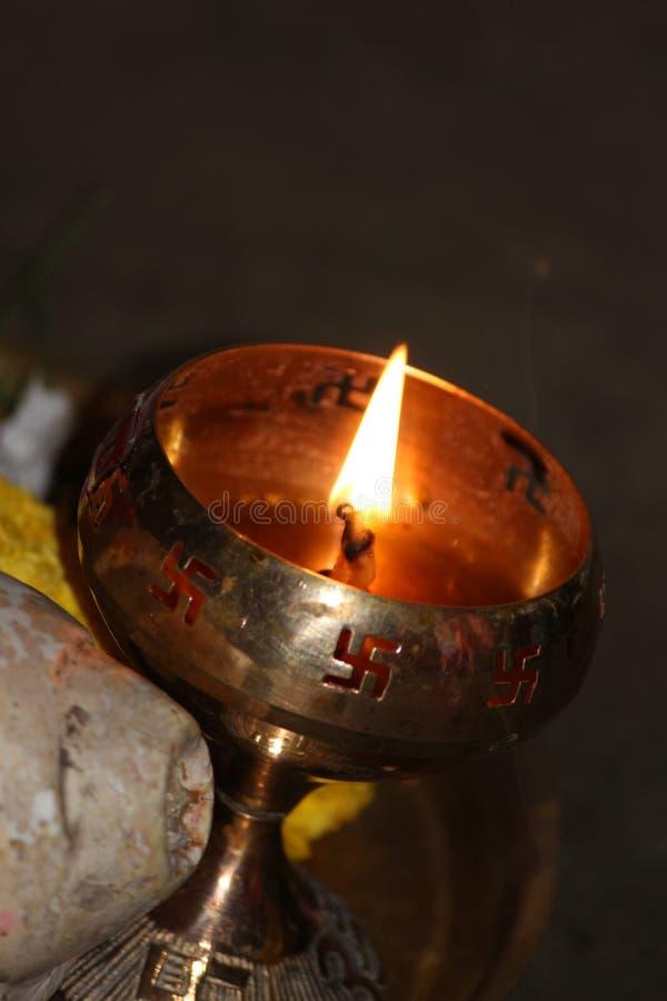Diametro & x28 della casa; lamp& x29 dell'olio; immagine stock libera da diritti
