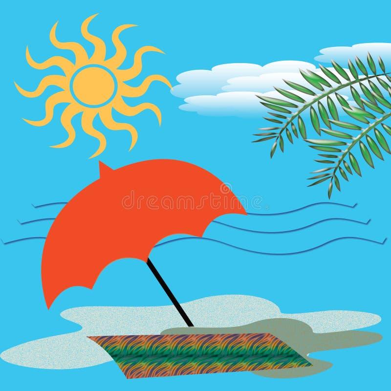 Diami la spiaggia illustrazione vettoriale