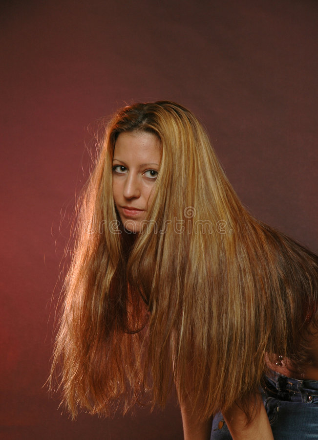 Diami una testa con capelli? fotografia stock