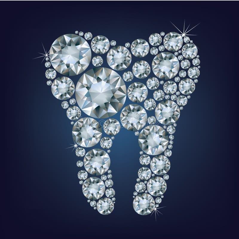 Diamon tooth stock illustration