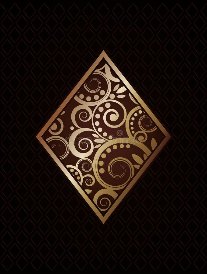Diamond´s ace poker playing cards royalty free stock photo