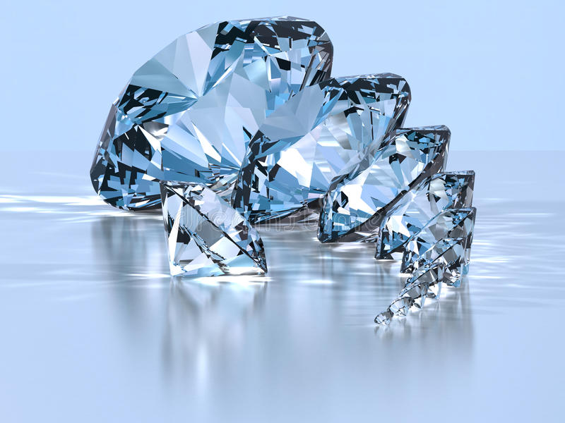 Download Diamond stock illustration. Image of jewelry, rich, blue - 12632904