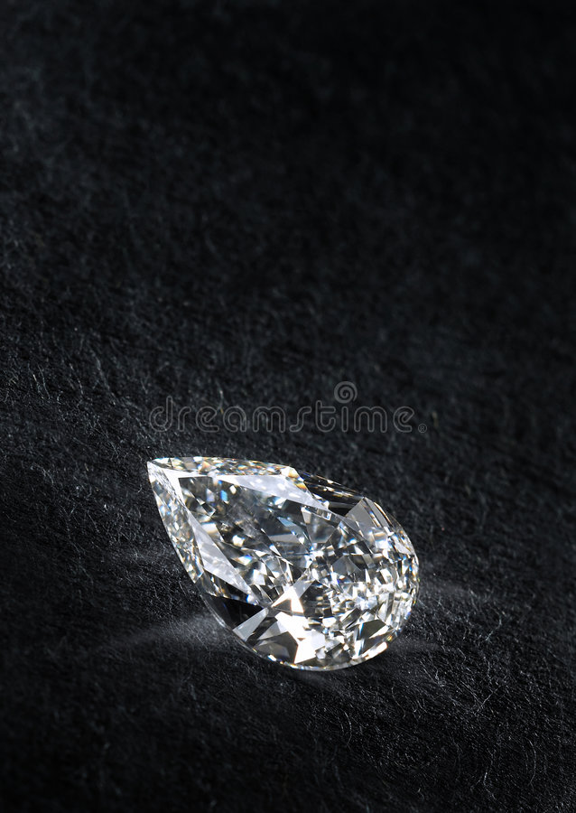 Diamond. Isolated on black background