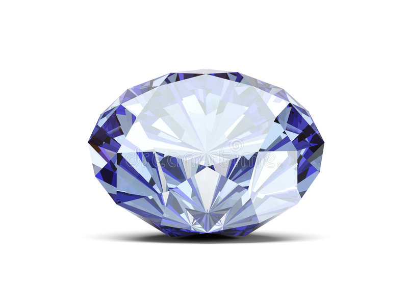 Diamond. A close up of a diamond over a white background vector illustration