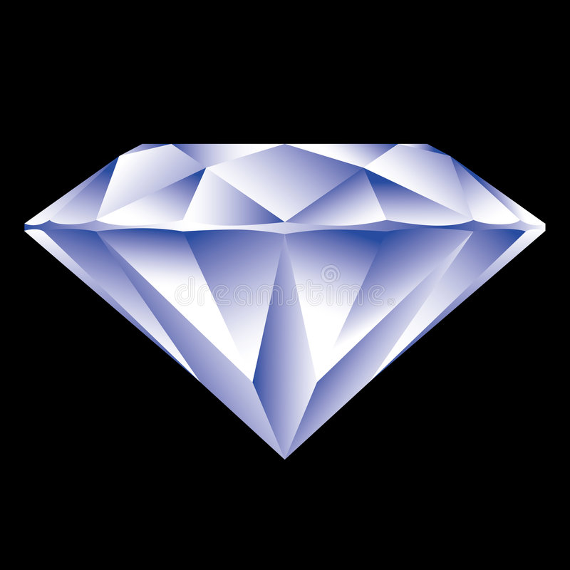 Diamond. Isolated on black background