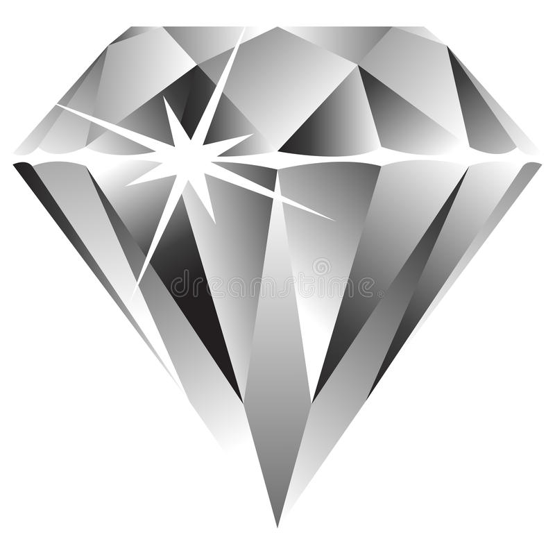Diamond Against White Royalty Free Stock Images