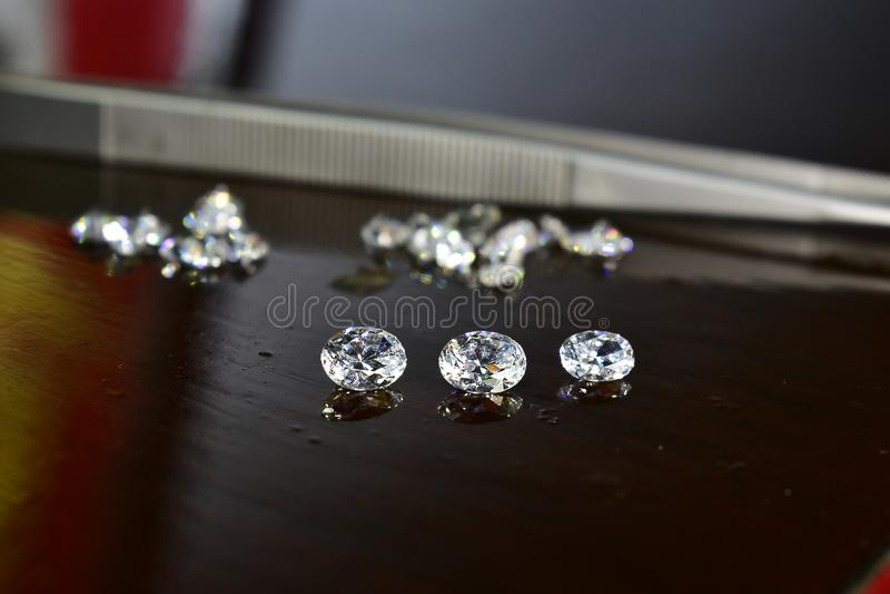 Diamond As jewelry Rare and expensive, worth having possession. Hardness symbol diamond stock photography