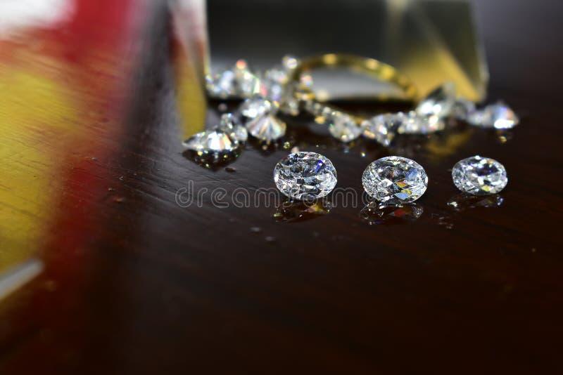 Diamond As jewelry Rare and expensive, worth having possession. Hardness symbol diamond royalty free stock photo