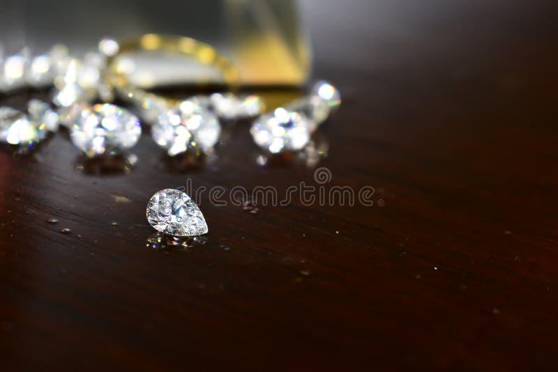 Diamond As jewelry Rare and expensive, worth having possession. Hardness symbol diamond royalty free stock image
