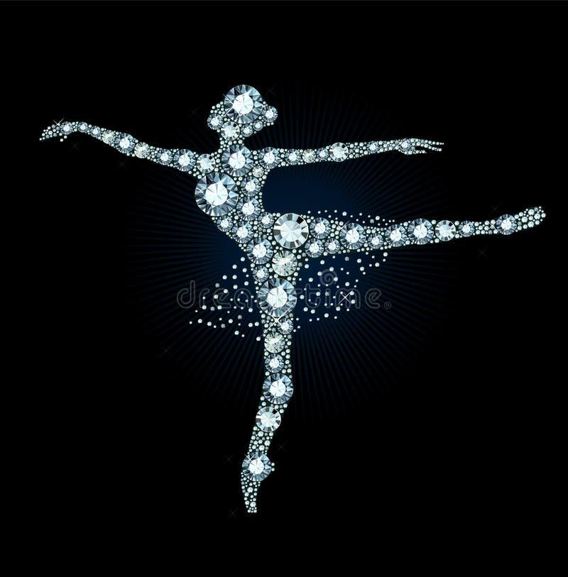 Diamond Ballet Dancer immagine stock
