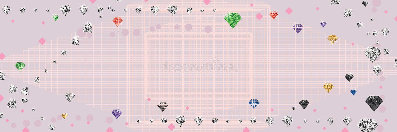 Diamond banner bright royalty free illustration
