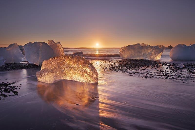 Diamond beach - Iceland royalty free stock photo