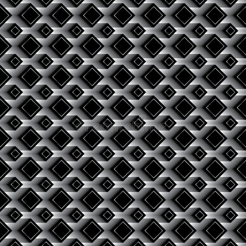 Diamond black effect seamless pattern stock illustration