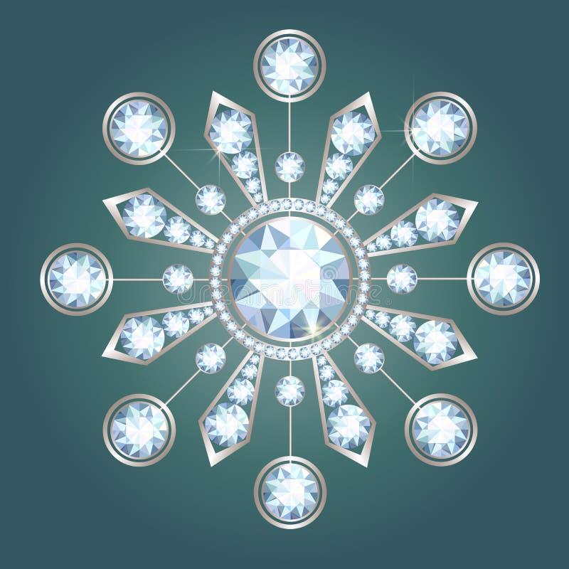 Diamond Brooch royalty-vrije illustratie