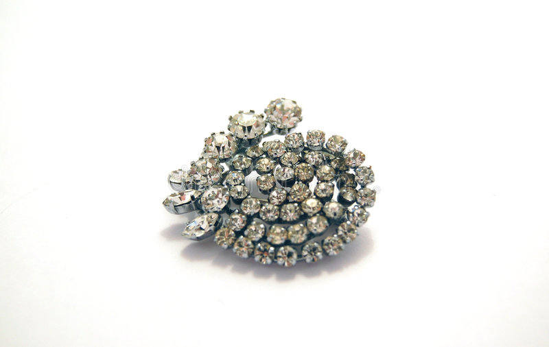Diamond brooch stock image
