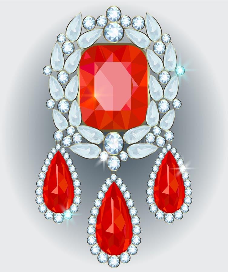 Diamond Brooch stock illustratie