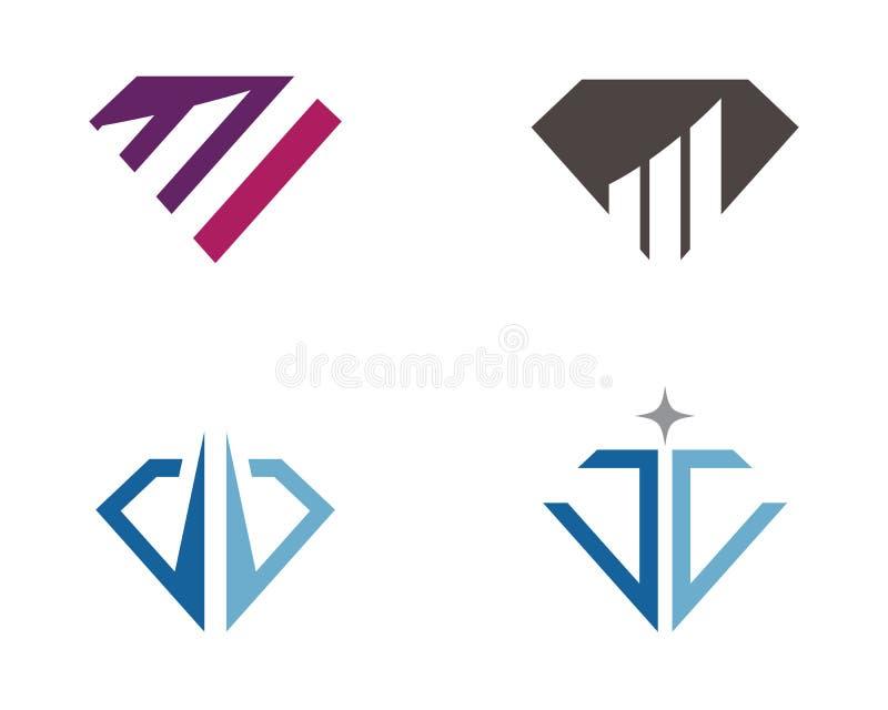 Diamond Business Finance-Berufslogoschablone vektor abbildung