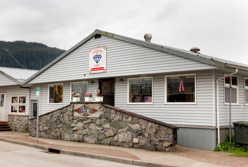 Diamond Cafe in Front Street, Wrangell stock fotografie