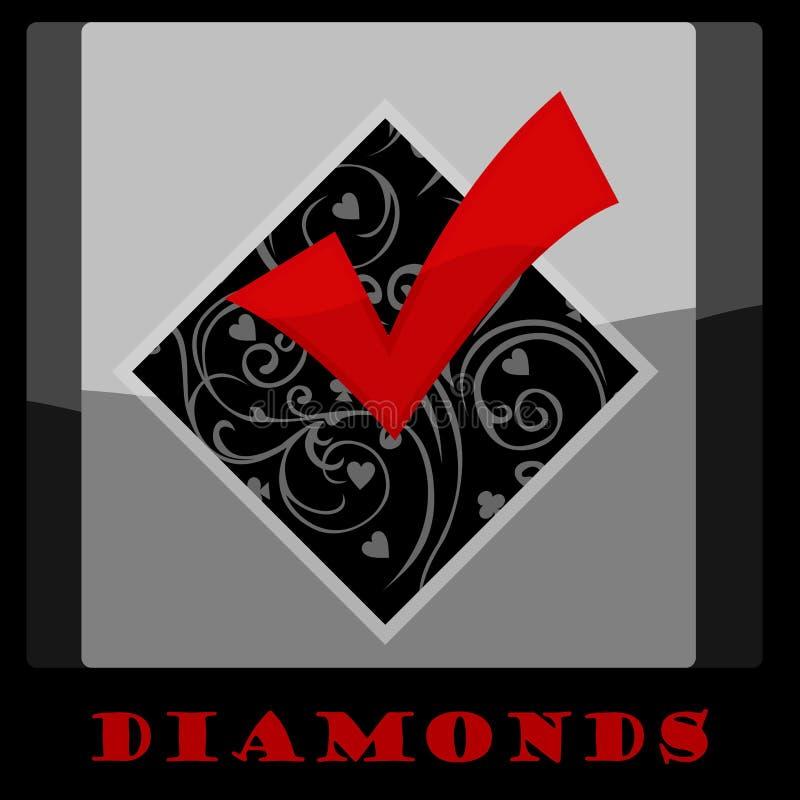 Diamond Card Symbol imagen de archivo libre de regalías