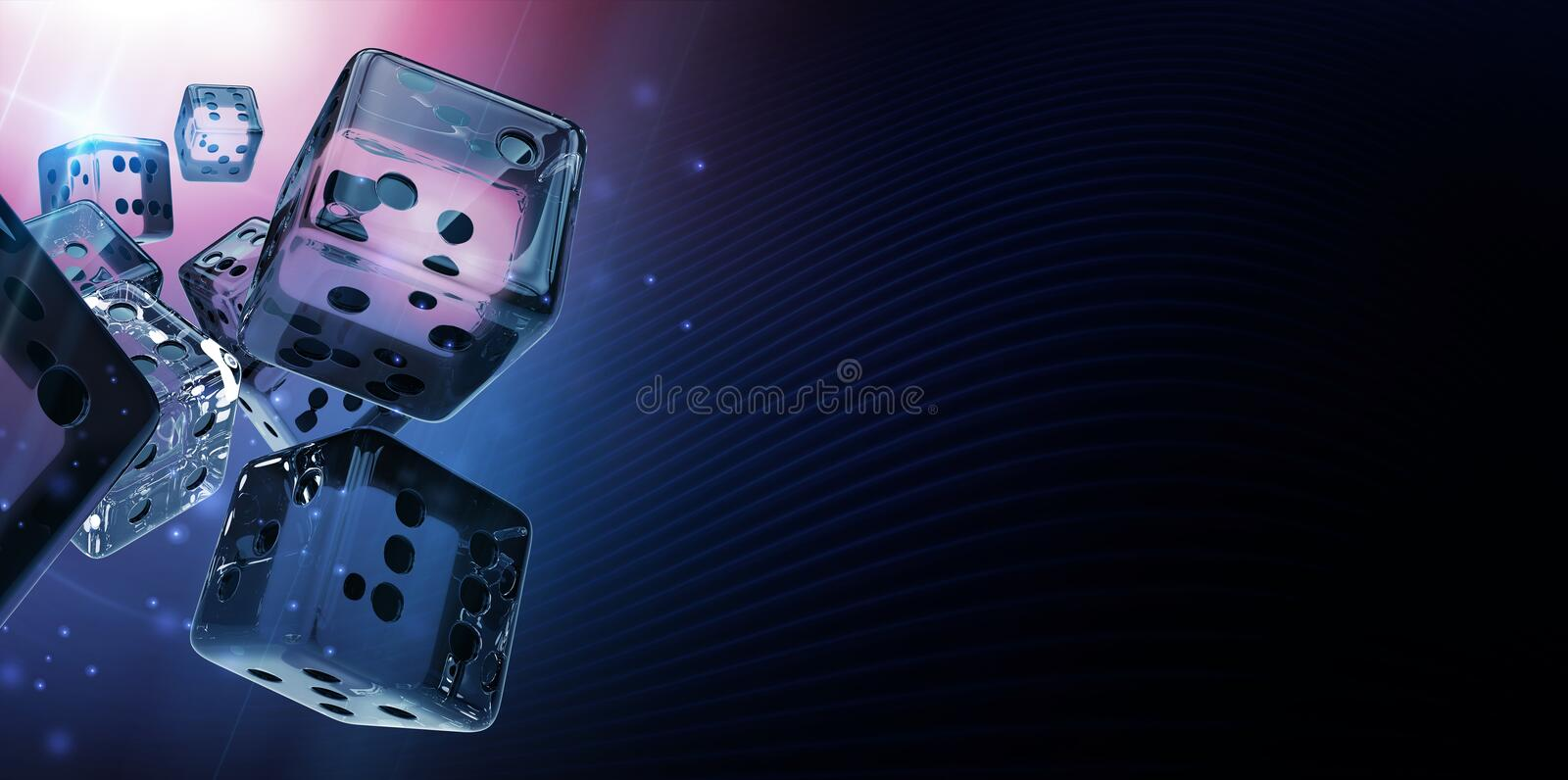 Diamond Casino Craps Dices illustration stock