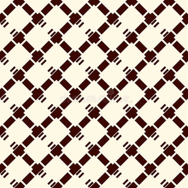 Diamond checkered background. Seamless surface pattern with repeated diagonal crossed hatched lines. Grid wallpaper vector illustration