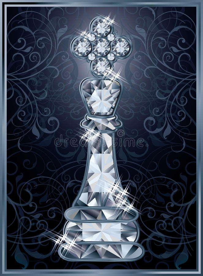 Diamond chess King card royalty free illustration