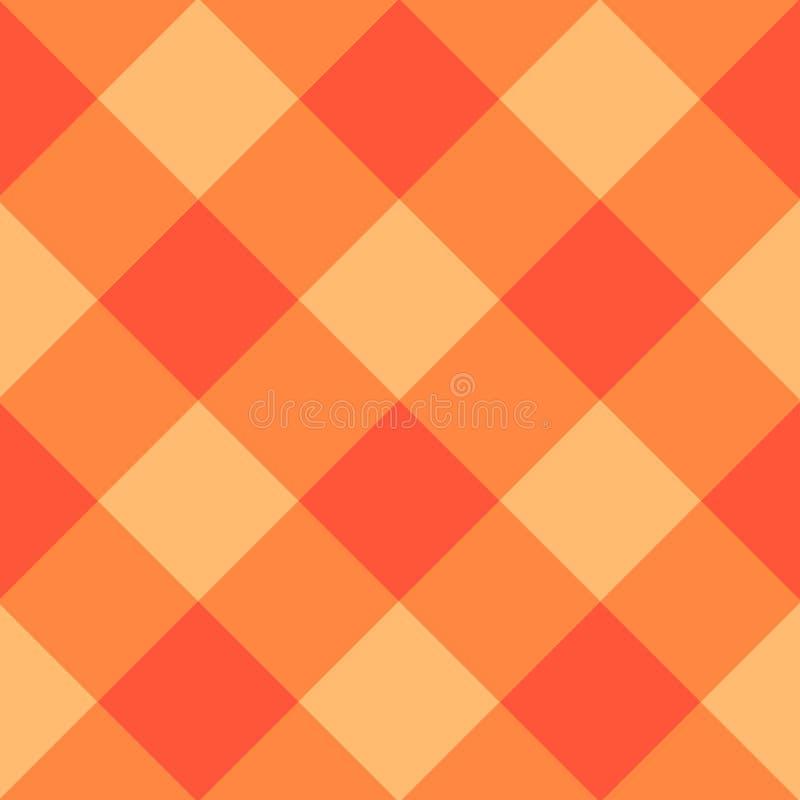 Diamond Chessboard Background orange illustration libre de droits