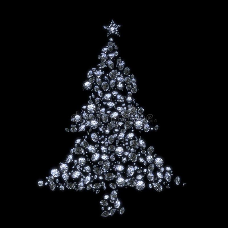 Big W White Christmas Tree: Christmas Tree From Diamonds Stock Image