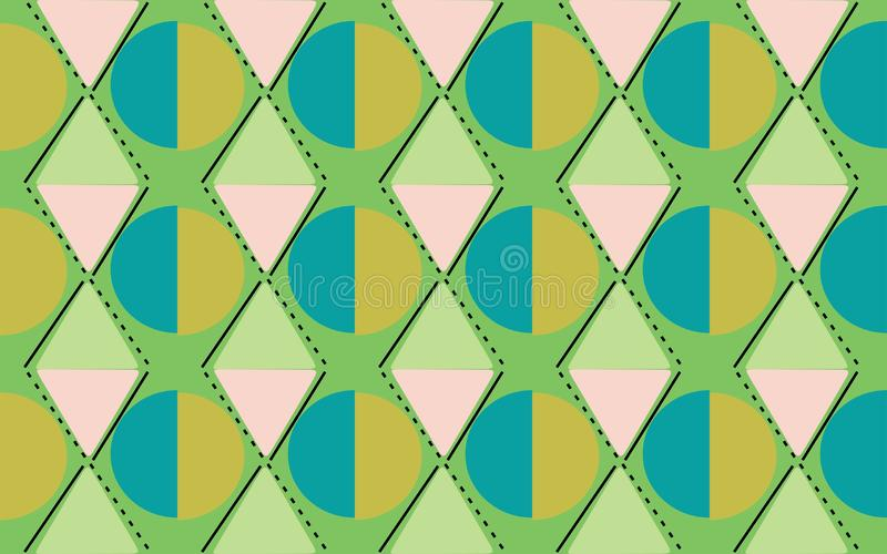 Diamond cirlcle greenish of repetitive ethnic pattern. Diamond cirlcle geometrics shape repetitive background pattern suitable for book cover, wallpaper vector illustration