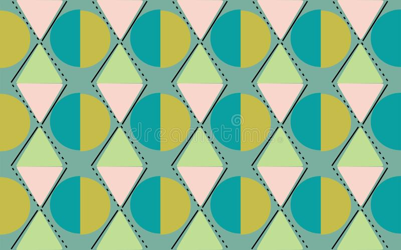 Diamond cirlcle greenish of repetitive ethnic pattern 2. Diamond cirlcle geometrics shape repetitive background pattern suitable for book cover, wallpaper royalty free illustration