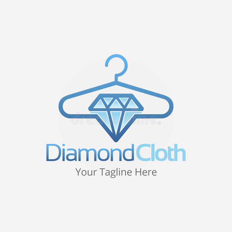 Diamond Cloth Logo Template lizenzfreies stockbild