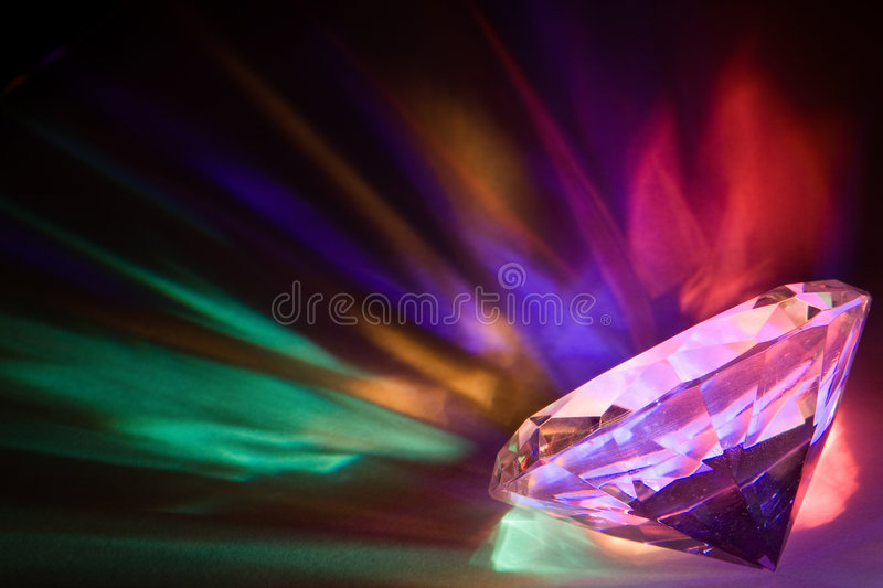 Diamond Colors Royalty Free Stock Photography