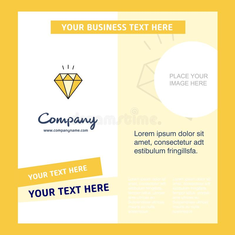 Diamond Company Brochure Template VektorBusienss mall stock illustrationer