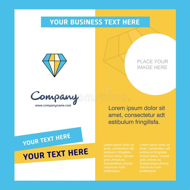 Diamond Company Brochure Template VektorBusienss mall royaltyfri illustrationer