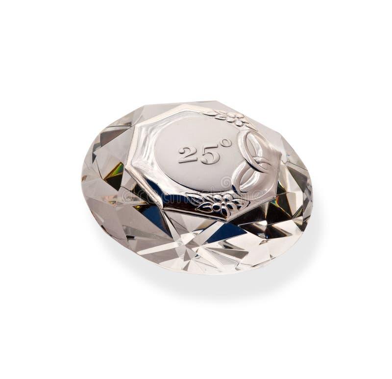 Diamond crystal stock image