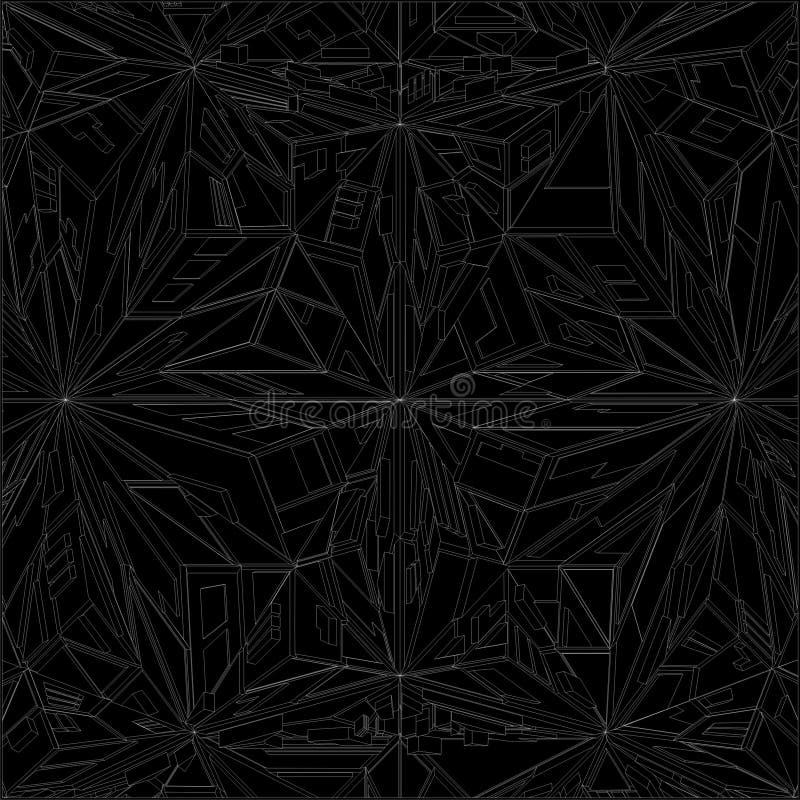 Diamond Crystal Geometric Pattern Structure Vector ilustración del vector