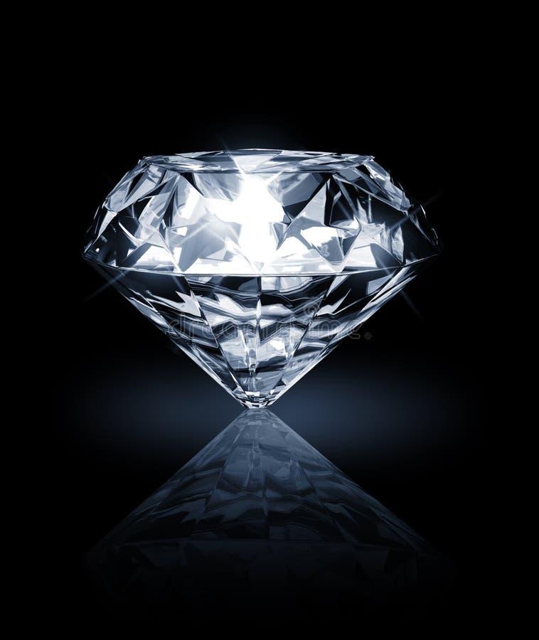 Diamond on dark background royalty free illustration