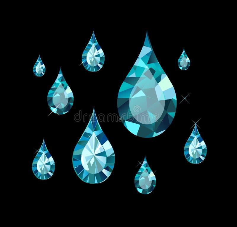 Diamond Drops stock illustratie