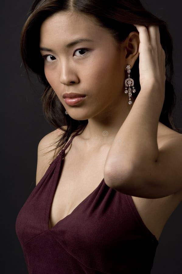 Diamond Earring royalty free stock photo