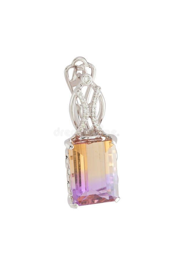 Diamond earring royalty free stock photography