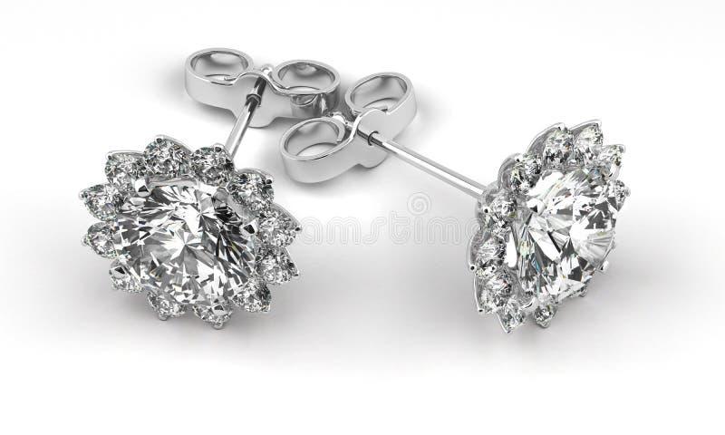 Diamond Earrings ilustración del vector