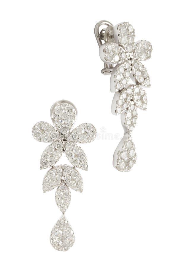 Diamond Earrings fotografia de stock