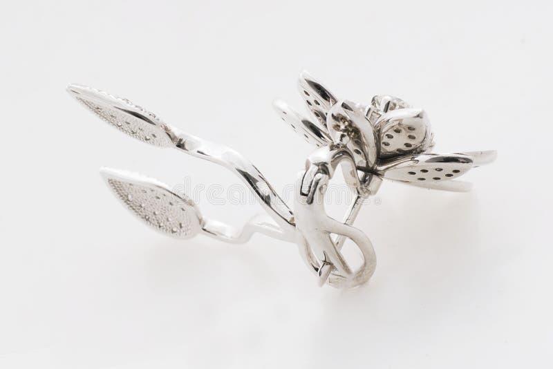 Diamond Earrings imagens de stock royalty free