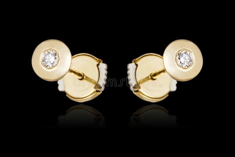 Diamond Earrings royalty-vrije stock foto