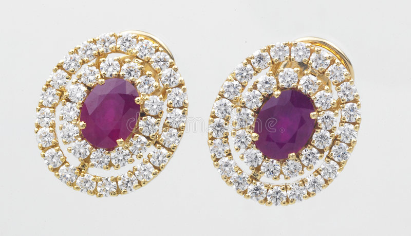 Download Diamond earrings stock image. Image of fine, earing, close - 5355715