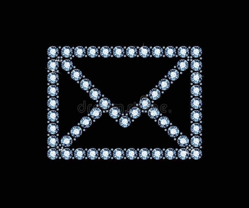 Diamond Email Icon immagini stock libere da diritti