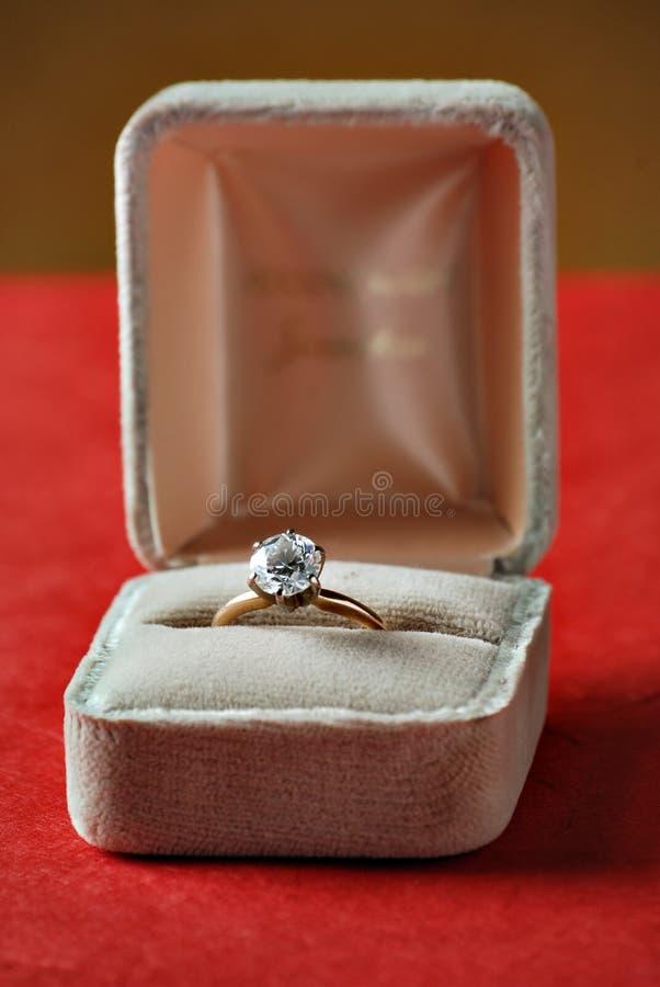 Diamond Engagement Ring royalty free stock image