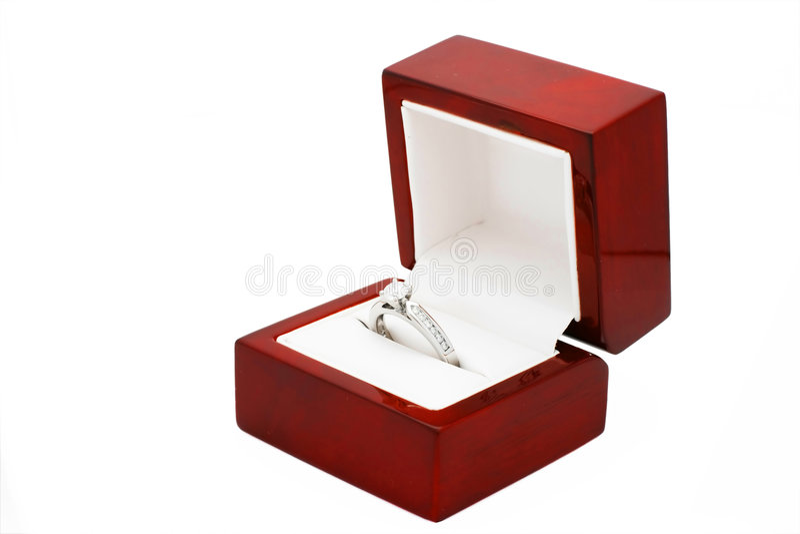 Diamond Engagement Ring. A platinum diamond engagement ring royalty free stock image